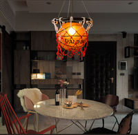 New LED Pendant Lights Luminaria Basketball Lamp In Kids Room Linving Room Rining Room