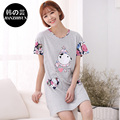 2016 NEW Short Nightgowns Summer 100% Cotton Night Dress Girl Lovely Character Nightwear