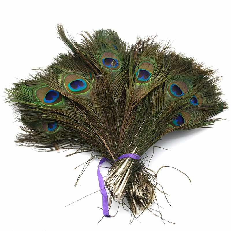 Natural Peacock Tail Feathers 25-32cm long with big /'eyes/' beautiful feathers.