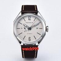 43mm Parnis Sapphire Crystal Luminous Miyota Automatic Men's Watch White Waterproof Mechanical men Watch