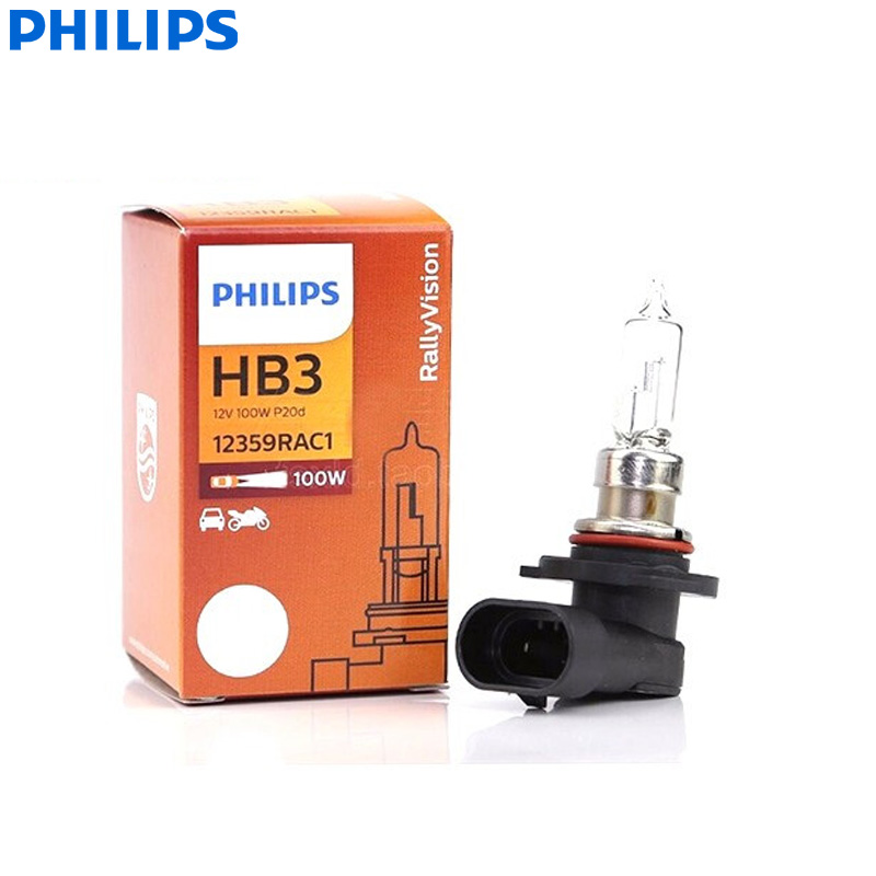 Лампа противотуманная Philips для внедорожников, 9005 HB3, 12 В, 100 Вт, P20d, 12359RAC1