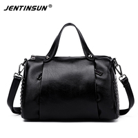 2017 Spring New Genuine Leather Bag Women Handbag Rivet Designer Cowhide Pillow Bag Fashion Shoulder Messenger