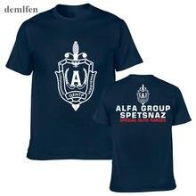 Nieuwe Russische Spetsnaz Alfa Alpha Unit Teller Terroristische Speciale Eenheid Krachten T-shirt Zwart O Hals T-shirt Casual Funny Shirt