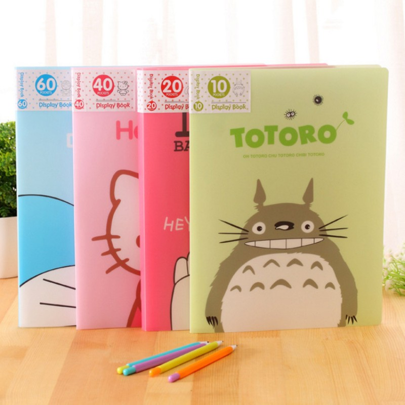 2pcs/lot Cartoon Totoro Big hero A4 folding holder Kawaii Hello kitty transparent Multi-page Document bags office school supply футболка wearcraft premium printio стэнли пайнс gravity falls