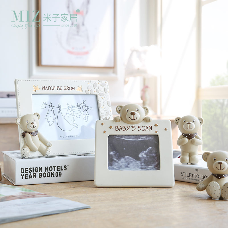 Miz Home 1 Piece Baby Photo Frame Multi-size Picture Frame Lovely Bear Figure Photo Frame for Kids Home Decoration