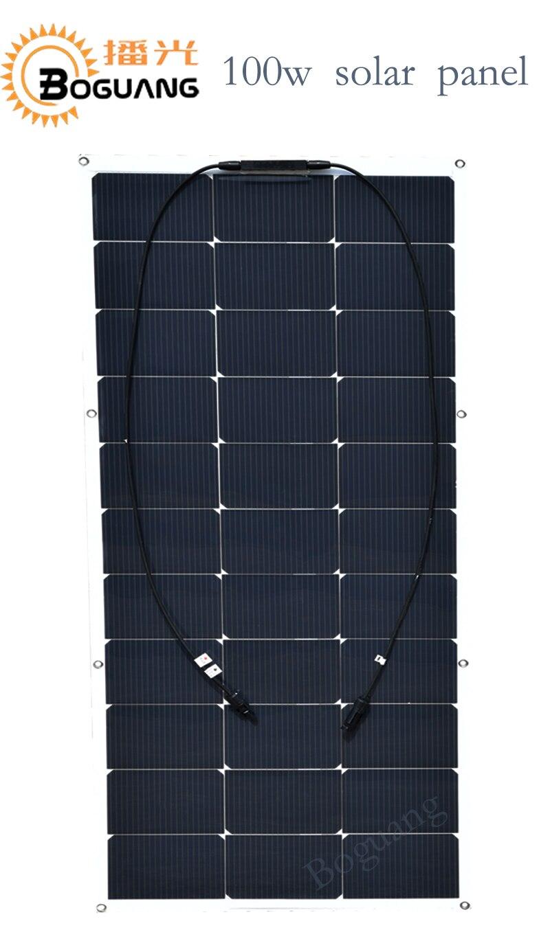 Boguang 16v/100w solar panel flexible solar module cell 12v system DIY kit for RV car Home powered LED light yacht marine