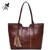 Europe And The United States Big Laptop Handbag New England Tassel Woman Single Shoulder Bag The