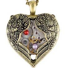 2017 Новые Поступления Steampunk Сердце Ювелирные Себе Ожерелье Для Женщин Уникальный День святого валентина Подарок-Кулон
