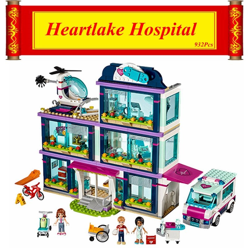 932pcs Friends Girl Series Heartlake Hospital Legoings Model Building Blocks Toys Kids Bricks Toy Best Girls Birthday Gift Toys & Hobbies