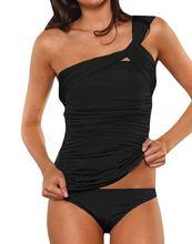 Nueva sexy de un hombro vendaje bikini brasileño set 2017 más el tamaño de trajes de baño Retro de gran tamaño traje de baño maillot de bain femme