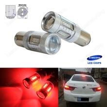 2x 566 P21/4W 1122 BAZ15d SAMSUNG 15W LED Side Stop Tail Brake Light Bulbs Red(CA314)