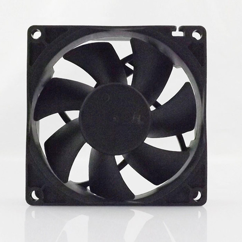 2020 New <font><b>80mm</b></font> <font><b>fan</b></font> cooler <font><b>3Pin</b></font> 12V Computer PC CPU <font><b>Fan</b></font> Silent 8025 7-Blade PC CPU Cooling <font><b>Fan</b></font> Black for video card Drop shipping image