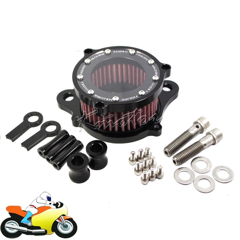 ФОТО Retro CNC Motorcycle Air Cleaner Intake Filter System  for HD Harley Davidson Sportster XL 883 X48 1200 2004-2014