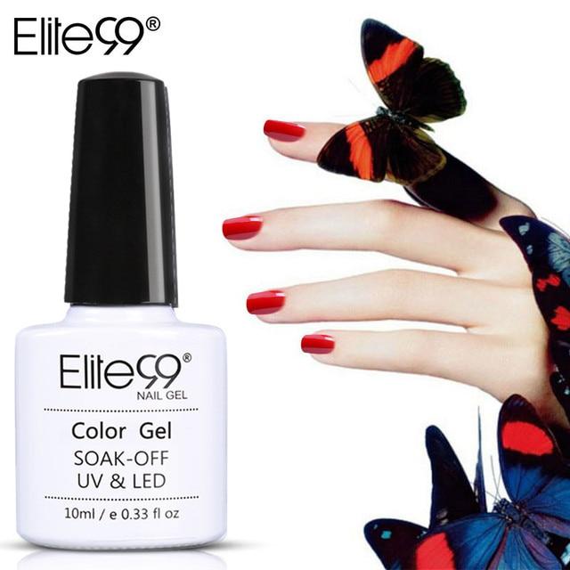 Elite99 12 stücke 10 ml Wein Rot Farbe Nagel Gel Tränken Weg UV Gel Nagellack Nail art Gel polnisch UV & LED Gel Lang Anhaltende