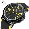 2016 Top Qualidade Esporte V6 Relógio Marca De Luxo Homens Relógio de Moda Casual Big Dial Relógios de Pulso de Quartzo Menino Relogio masculino