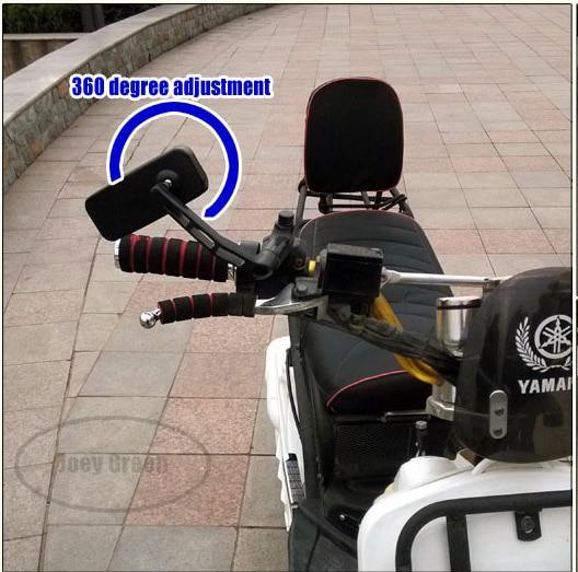 Gratis verzending, scooter motorfiets achteruitkijkspiegels aluminium - Motoraccessoires en onderdelen - Foto 2