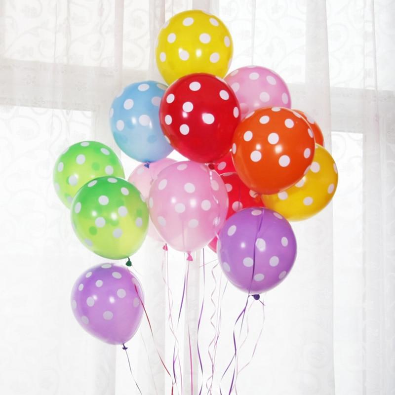 12 polka dot latex balloons wedding decoration birthday for Decoration pinata