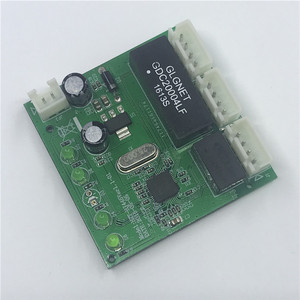 Image 2 - שת 3 יציאות מתג מודול PCBA 4 פיני UTP PCBA מודול עם תצוגת LED בורג חור מיצוב מיני מחשב נתונים OEM מפעל