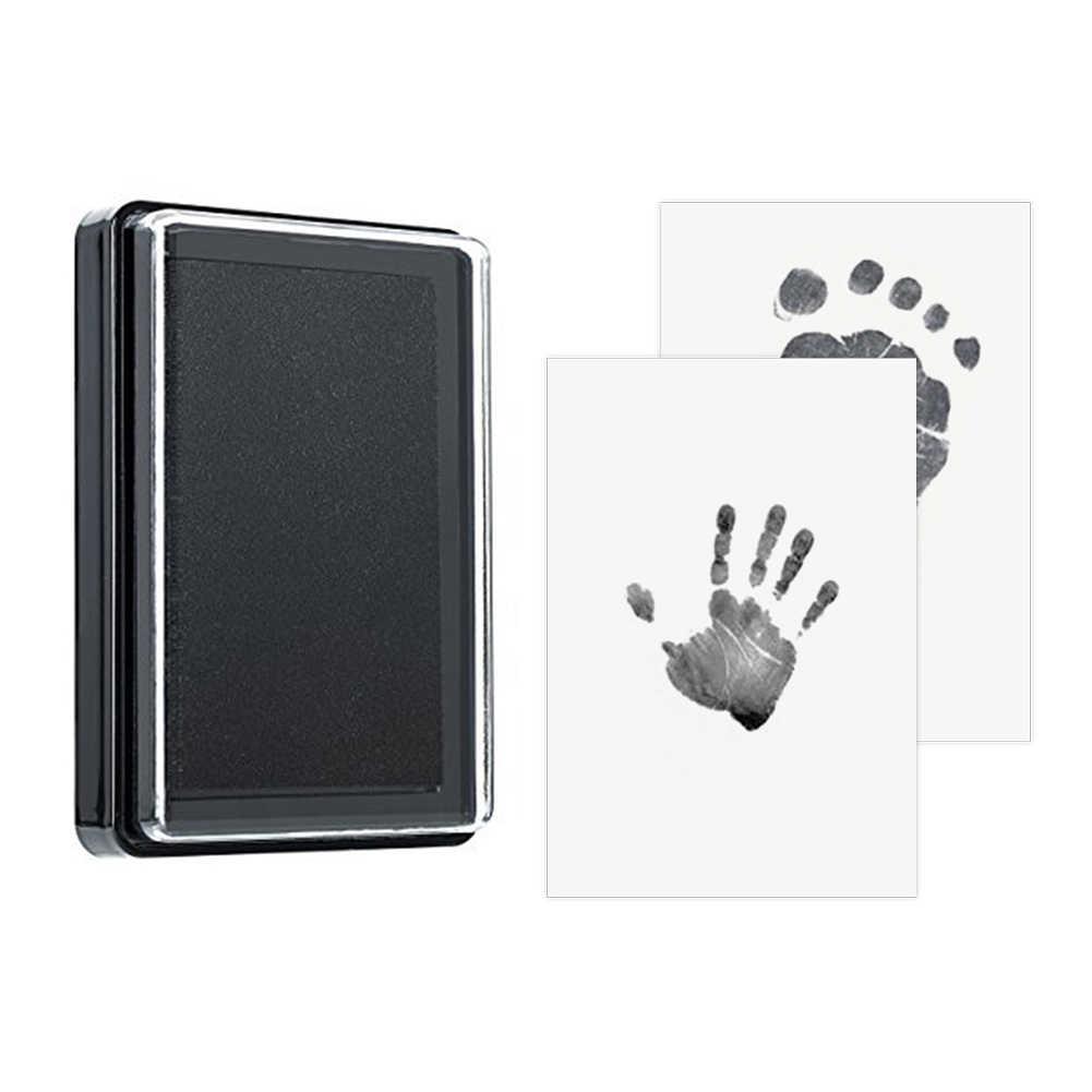 เด็กทารก Handprint รอยเท้าปลอดสารพิษ 100% ทารกแรกเกิดพิมพ์ Inkpad ลายน้ำทารกของที่ระลึก Casting Clay ของเล่น