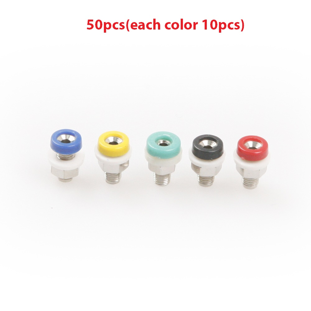 Hot Sale 50Pcs/Set Multi-color 2mm Banana Plug Connector Length 11mm Screw thread M4 Connectors For Connecting 2mm Banana Plug areyourshop sale 50pcs 5color 2mm gold banana male plug audio adapters for instrument test probes m