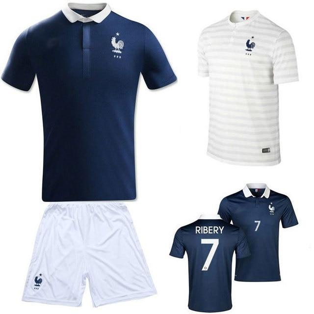 aec64410e France soccer football jersey t shirt tshirt national team 2014 14 season