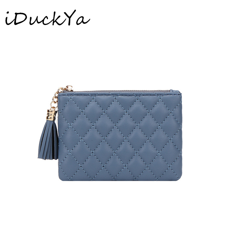 Fashion Short Womens Wallet Female Leather Tassel Coin Wallet Card Holder Purse Small Short Ring Clutch For Girls Hot Zipper