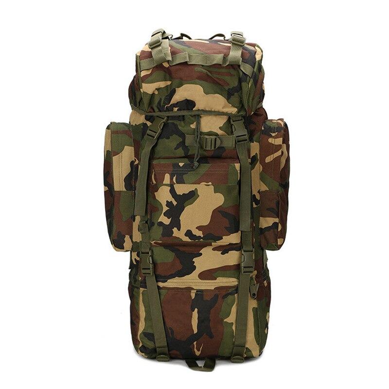 Sac d'alpinisme de grande capacité 65L Camping en plein air randonnée sac à dos tactique sac de Sport multifonction sac à dos Molle