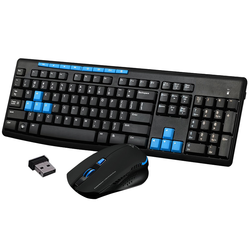 Nova Mecânica Gaming Keyboard Mouse sem fio Combo 2.4G Ratos Sem Fio Conjunto Multimídia para Computador PC QJY99