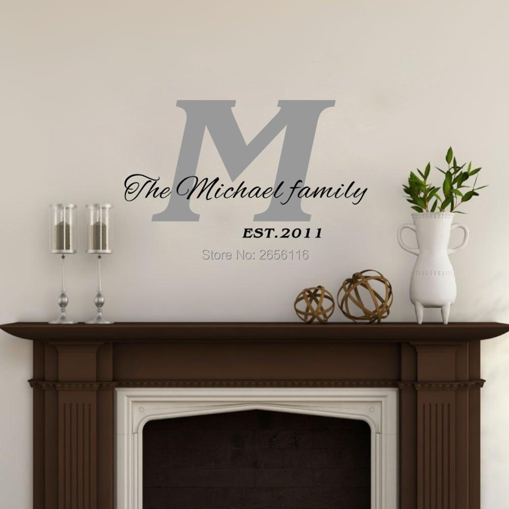 Tree wall decals large personalized family tree decal vinyl wall decal - Personalized Custom Family Name And Established Date Art Vinyl Wall Sticker Mural Wall Decals For Home