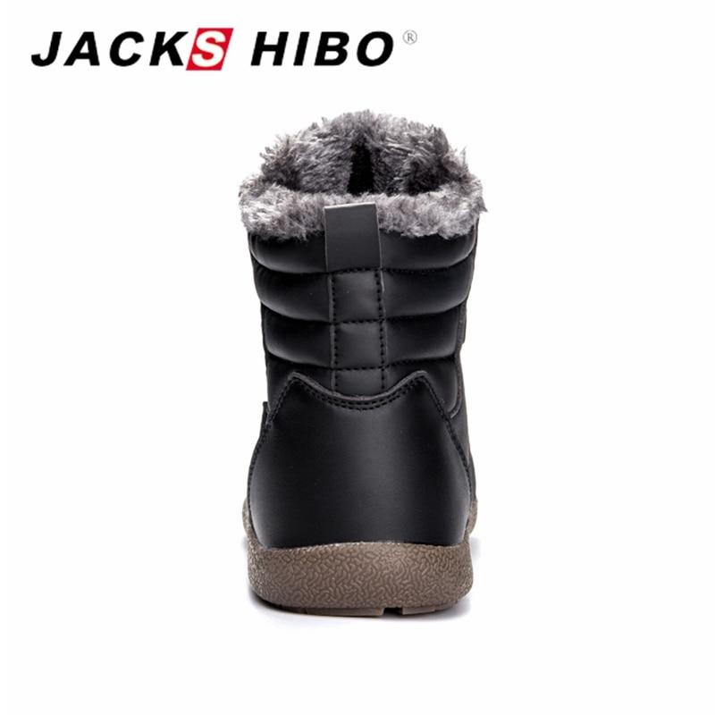 Chaussures Casual Botas Mode Pour grey Hommes Imperméable Cuir Hombre De Homme Pu blue D'hiver Neige Chaud Jackshibo Black Nouveau khaki qg0tt