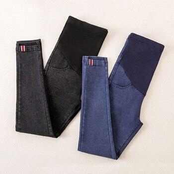e817d05b1 Denim Jeans pantalones de maternidad para las mujeres embarazadas ropa de  enfermería embarazo polainas pantalones Gravidas Jeans ropa de maternidad
