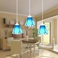 15 см Европейский стиль Средиземноморский витражный подвесной светильник для гостиной ресторана подвесной светильник