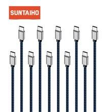 [10 Pack] Suntaiho USB סוג C כבל 25 cm 1 m 2 m 3 m מהיר טעינה כבל נתונים עבור Xiaomi סמסונג s8 OnePlus 2 נקסוס 6 P USB C כבל