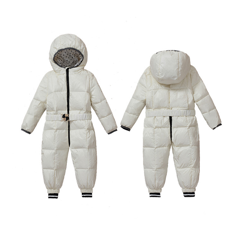 Baby Girl Jumpsuits Russia Winter Baby Clothing Windproof Coats Snow Wear Duck Down Snowsuits For Kids Boys Girls Rompers