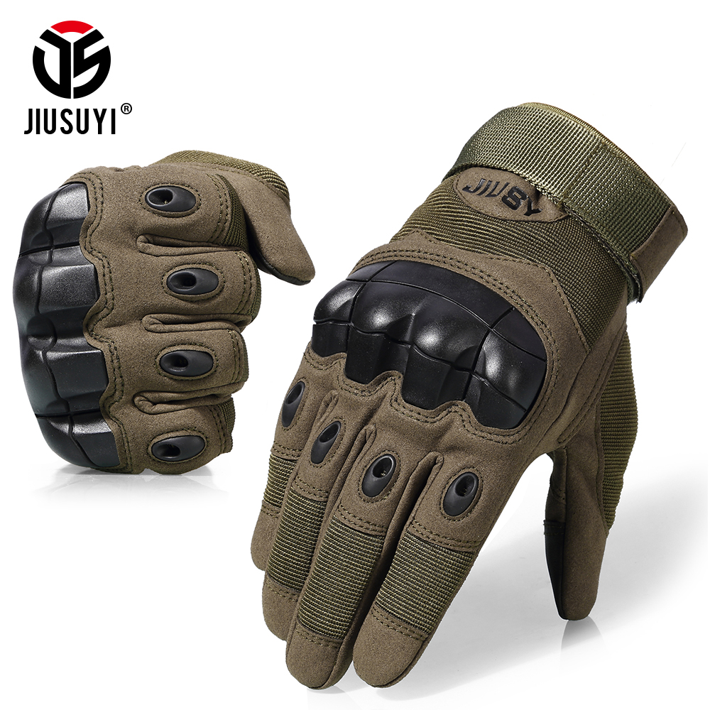 Pantalla táctil guantes tácticos militar ejército Paintball Airsoft combate antideslizante caucho duro nudillo guantes de dedo completo