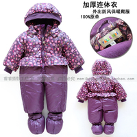 new Fashion autumn winter romper baby clothing baby girl princess cotton rompers newborn purple print flowers lovely overalls