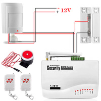 FUERS Russian English Voice Wired GSM Alarm System Dual Antenna GSM Home Alarm Security App Control Protection Auto Dial DIY