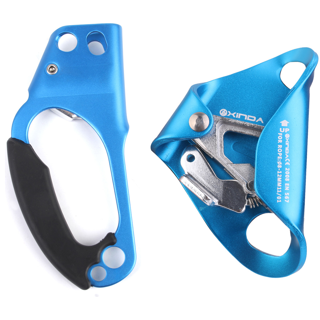 High Quality Right Hand & Chest Ascender Climbing Anti-fall Protector 8-12mm Rope Mountaineering Equipment Climbing Accessory e0037 right hand ascender professional aerospace aluminum ascenders for outdoor mountaineering rock climbing