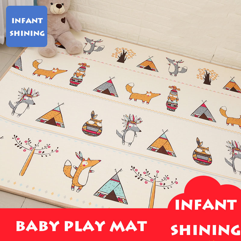 Infant Shining Baby Play Mat XPE Carpet Thickening Toy Crawling Puzzle Mat 200*180*2CM Kids Mat For Infants Play Mat Gym north european style retro minimalist modern industrial wood desk lamp bedroom study desk lamp bedside lamp