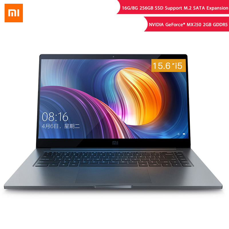 Original Xiaomi Notebook Pro 15.6'' Intel Core I5 8GB I7 16GB Laptop MX250 2GB GDDR5 Fingerprint Recognition 256G/512G Computer