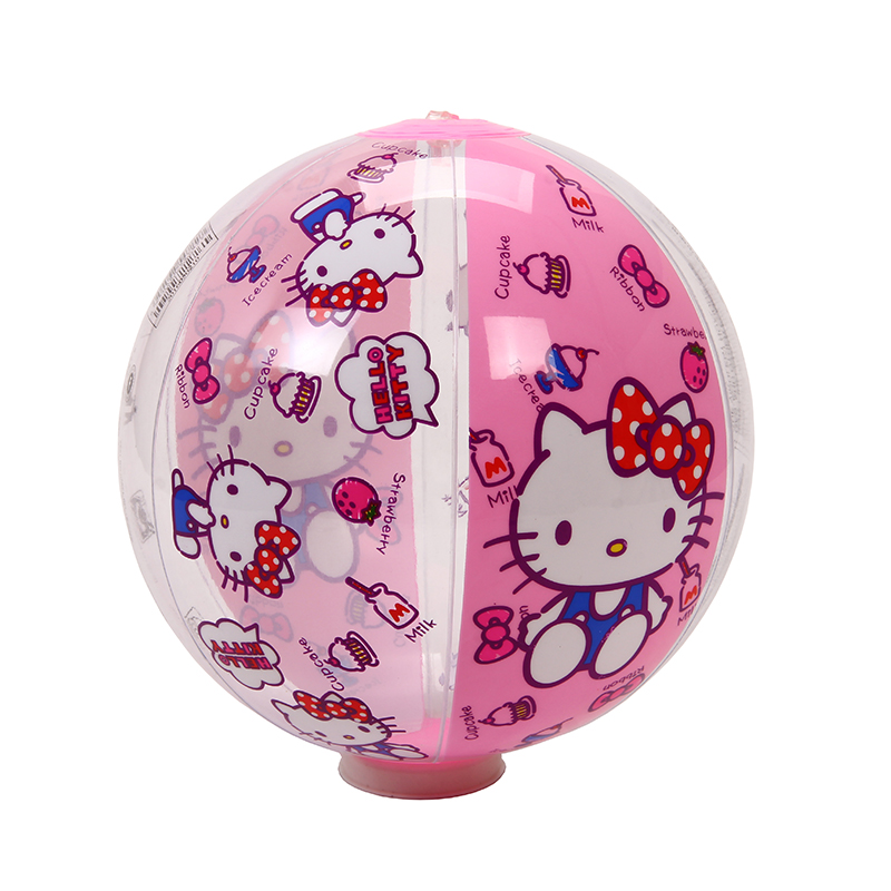 Hello Kitty Nflatable Ball Kids Beach Balloon Water Polo Toys Party Supplies Pool