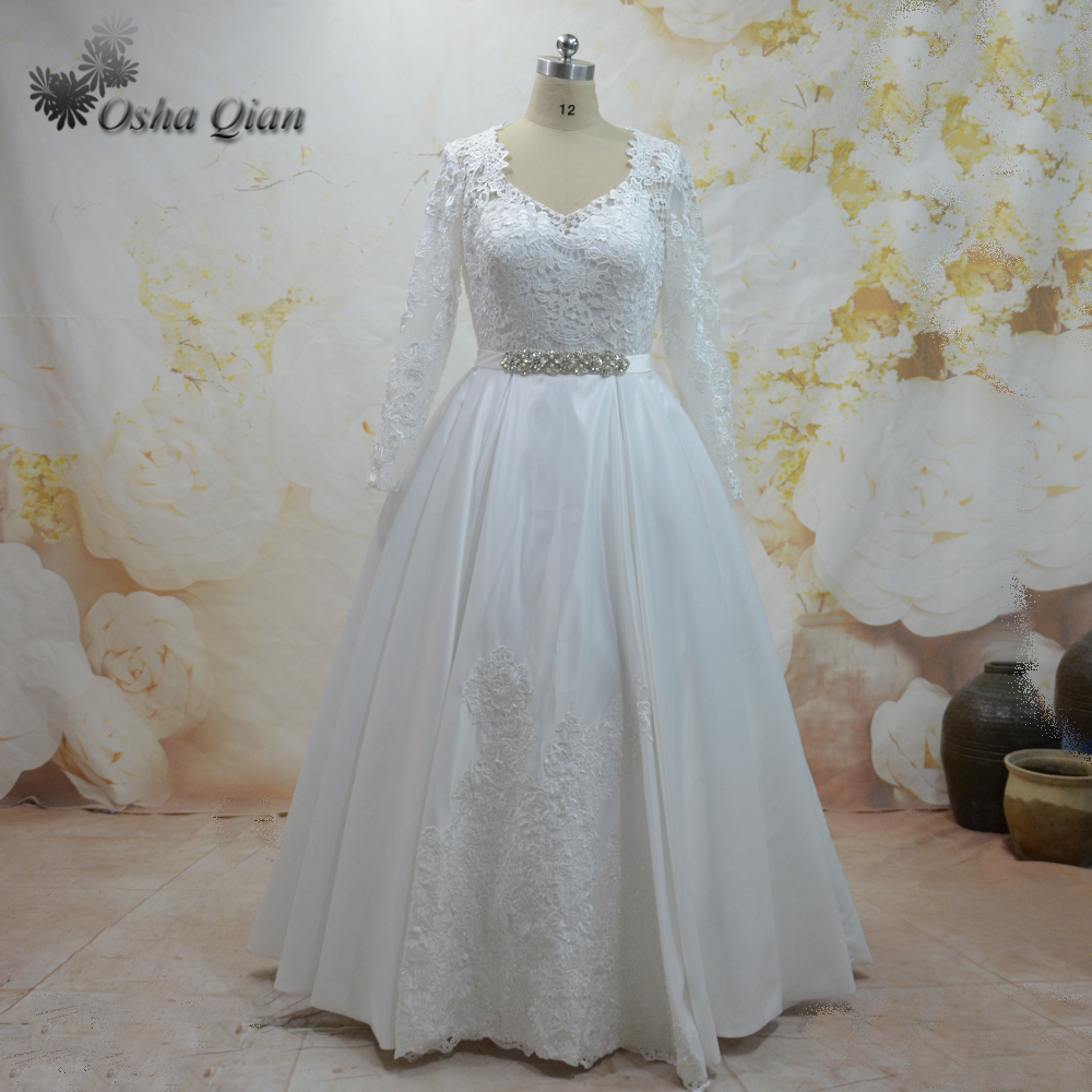Vestido De Noiva Manga Longa Off White Long Sleeve Wedding