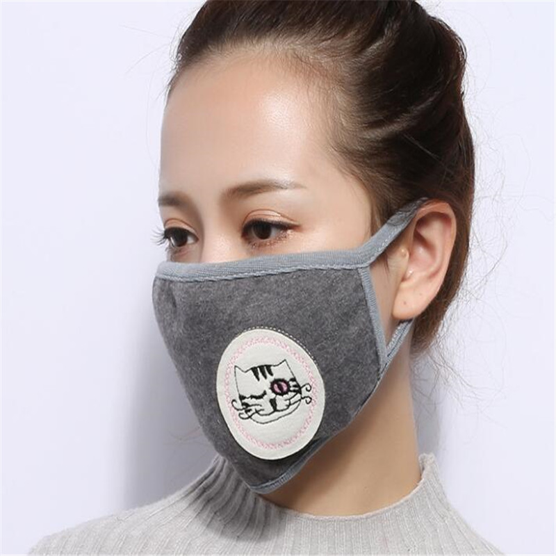 10pcs/Bags Dust Protection Mouth Mask Cotton Mond Doek Masque Visage Tissu Protection Cute Mask Fashion Mouth Mask