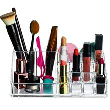 Lipstick Makeup Cosmetic Storage Organizer brush palette make up eyeshadow nail polish perfume lipsticks lipgloss pens holder(China)
