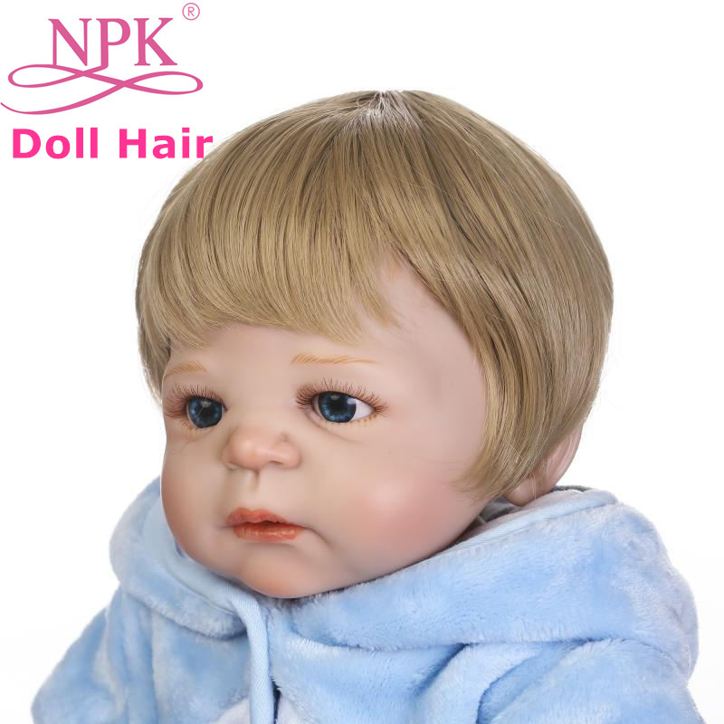 Toys & Hobbies Dolls Accessories Npk Newest 50-57cm Reborn Baby Doll Hair Wig Boy Reborn Baby Doll Sticked Hair Wig Bonecas Bebes Reborn Hair Wig For Boy Dolls To Win A High Admiration And Is Widely Trusted At Home And Abroad.