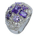 Purple amethyst Free Shipping Gems Silver 925 Ring Size 7 8 9 10 Elegant  Jewelry Gift unisex wholesale