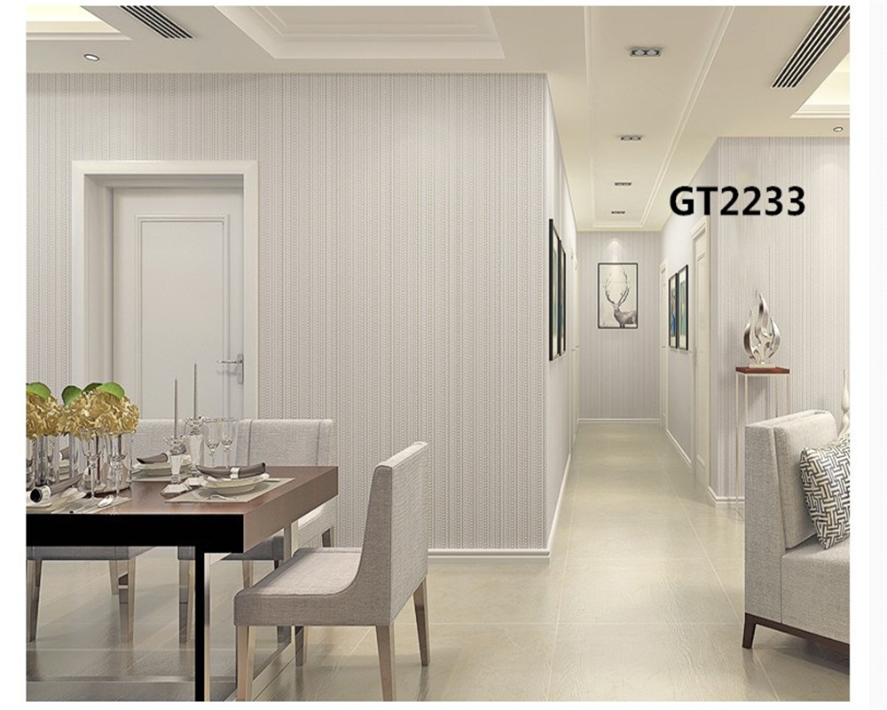 beibehang Plain color simple modern warm living room bedroom vertical stripes nonwoven environmental protection wallpaper behang in Wallpapers from Home Improvement