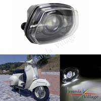 Papanda Schwarz LED Scheinwerfer Hohe Abblendlicht Ersatz Aluminium Gehäuse für Vespa Sprint 150 GL Super GTR