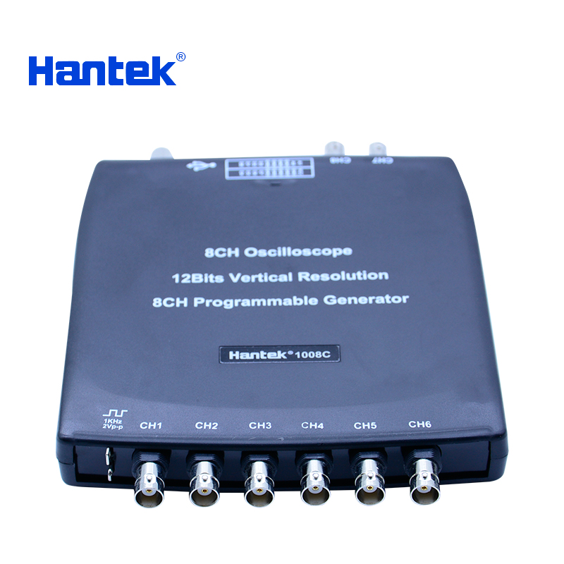 Hantek 1008c 8 Channels Automotive Oscilloscope Programmable Digital Vehicle Testing 2.4MSa/s Oscilloscope