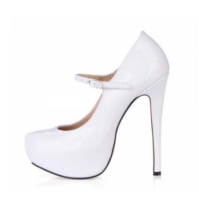 2017 women pumps shoes woman sexy high heels zapatos mujer tacon sapato  feminino womens wedding platform party valentine shoes c5a16b1e5c58